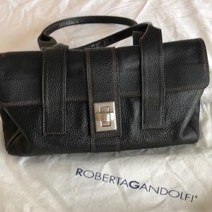 Roberta Gandolfi Brown Shoulder Bag